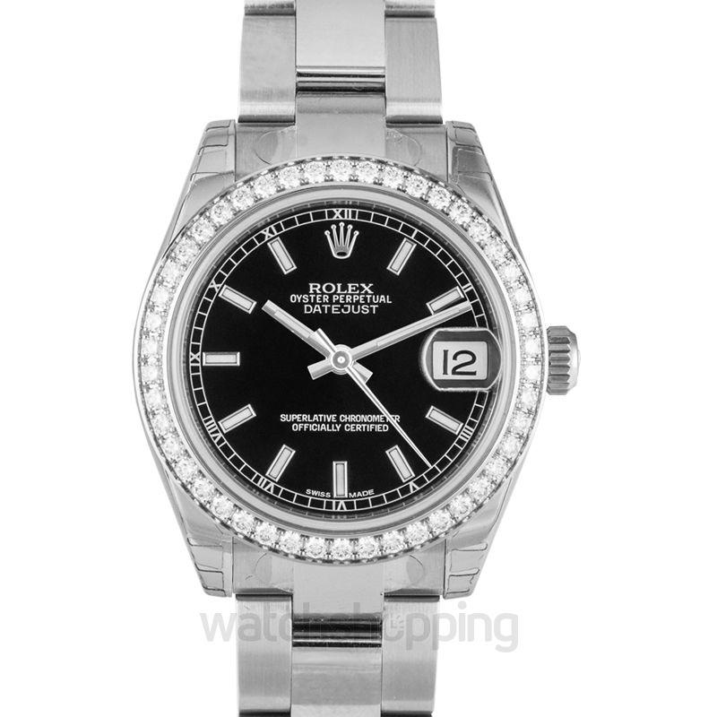 Rolex Datejust 31 Stainless Steel Diamond / Oyster / Black