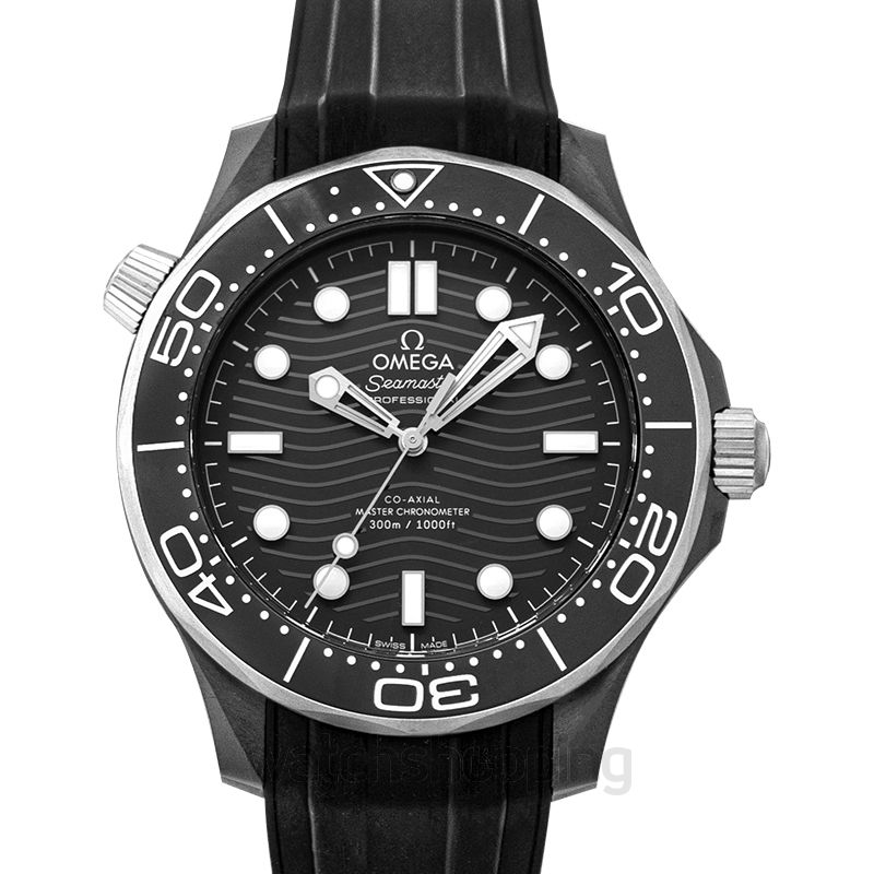 Omega Seamaster Diver 300 M Co‑Axial Master Chronometer 43.5mm Automatic Black Dial Black Ceramic Men's Watch