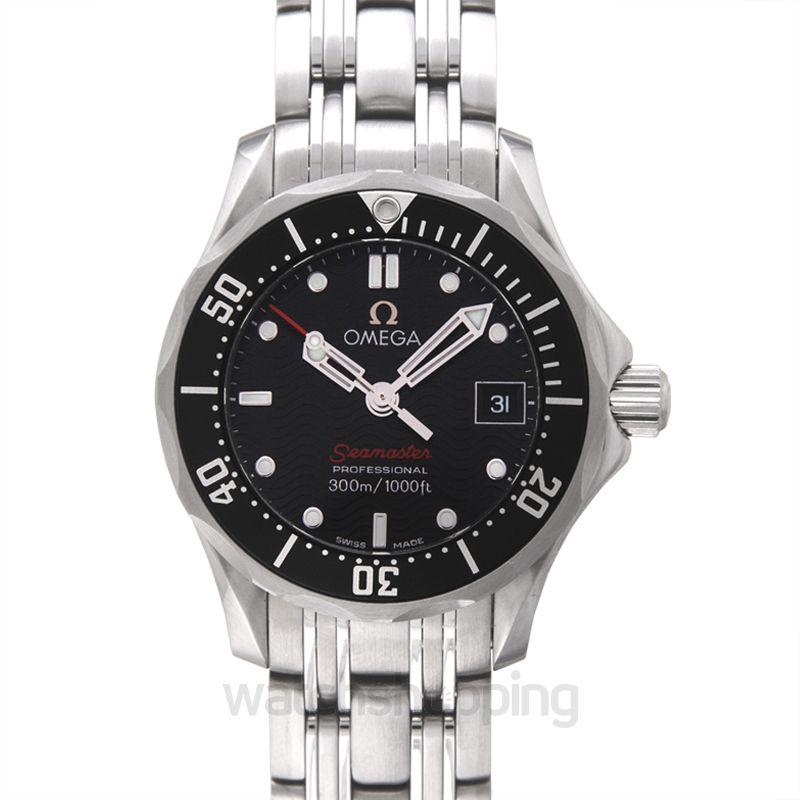 Omega Seamaster Diver 300 M Quartz 28mm Black Dial Steel Ladies Watch