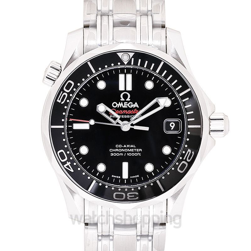 Omega Seamaster Diver 300 M Co‑Axial 36.25 mm Automatic Black Dial Steel Unisex Watch