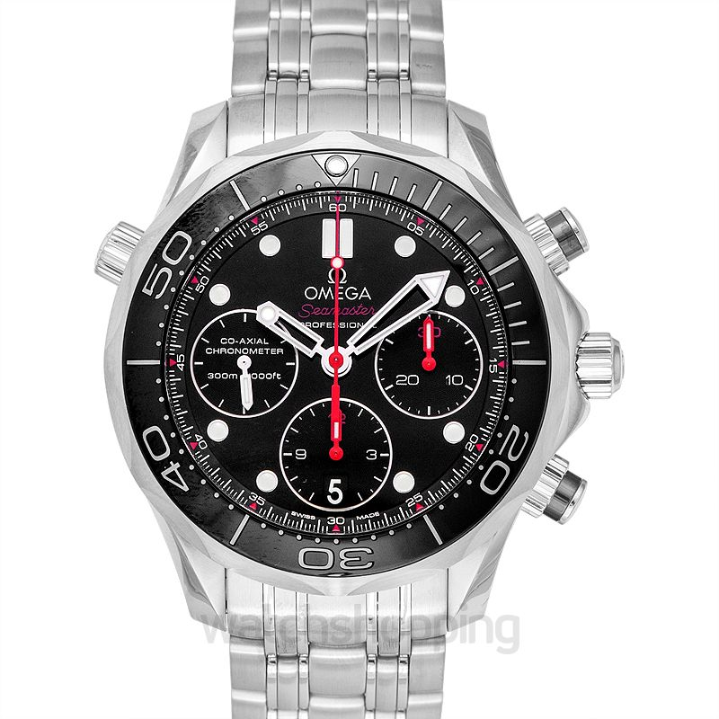 Omega Seamaster Diver 300 M Co‑Axial Chronograph 41.5 mm Automatic Black Dial Steel Men's Watch