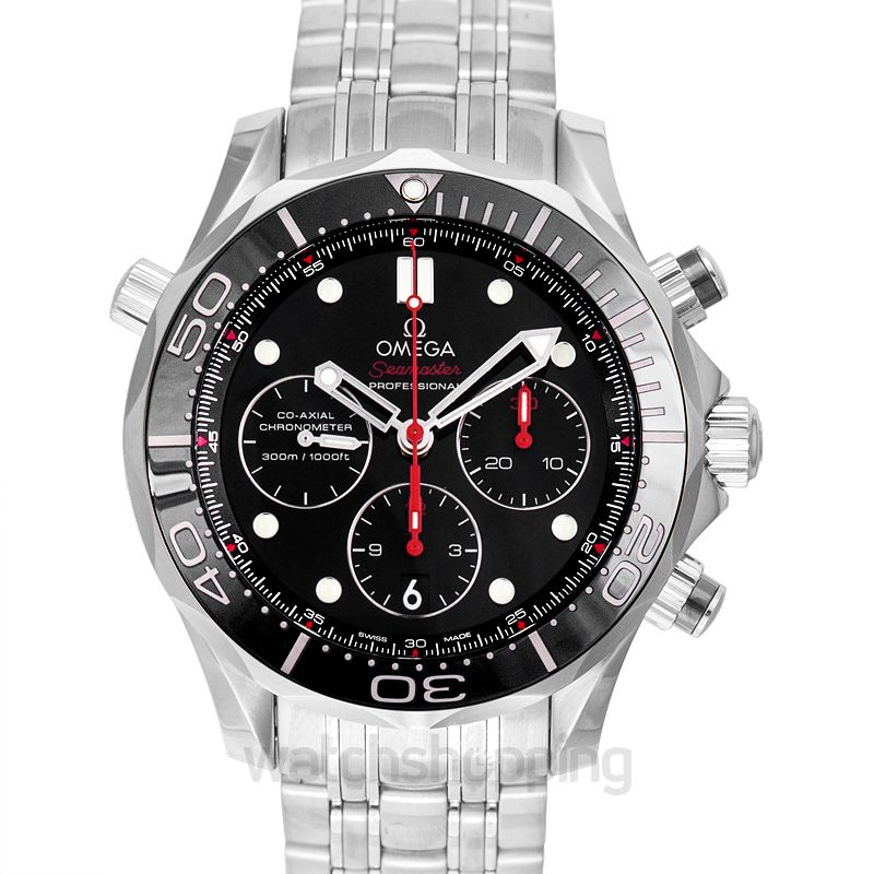 Omega Seamaster Diver 300 M Co‑Axial Chronograph 44mm Automatic Black Dial Steel Men's Watch