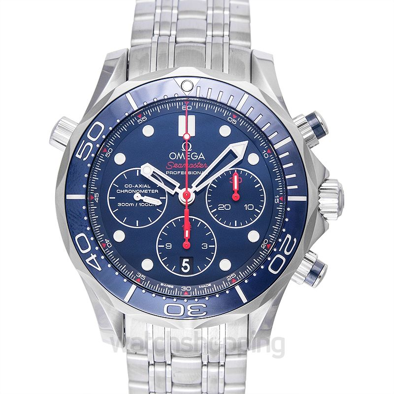 Omega Seamaster Diver 300 M Co‑Axial Chronograph 44 mm Automatic Blue Dial Steel Men's Watch