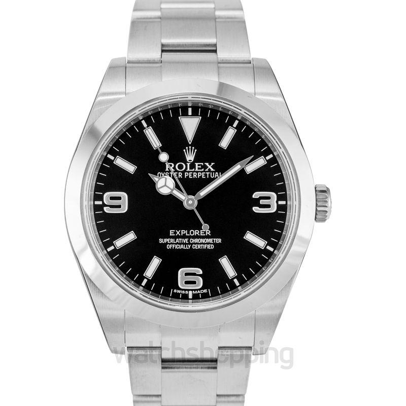 Rolex Explorer Automatic Black Dial Men's Watch