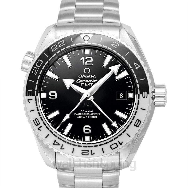Omega Seamaster Planet Ocean 600M Co‑axial Master Chronometer GMT 43.5mm Automatic Black Dial Steel Men's Watch