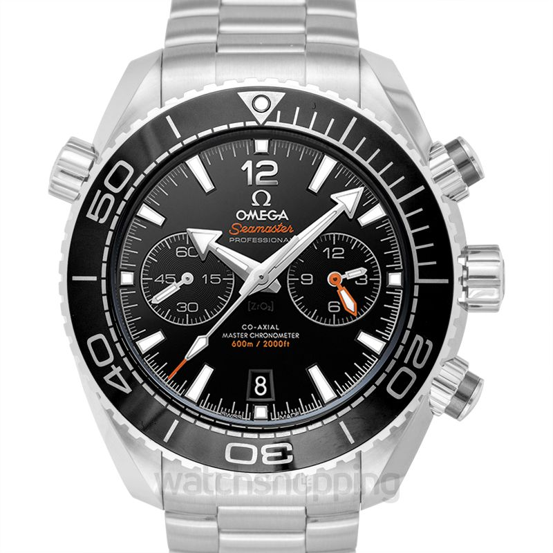 Omega Seamaster Planet Ocean 600M Co‑Axial Master Chronometer Chronograph 45.5 mm Automatic Black Dial Steel Men's Watch