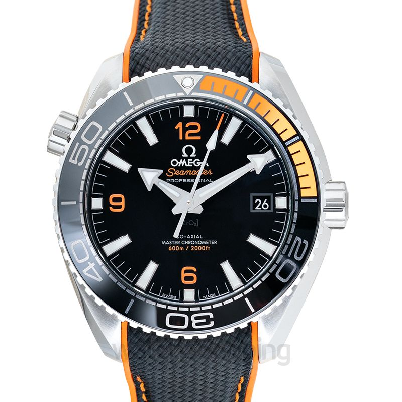 Omega Seamaster Planet Ocean 600M Co‑Axial Master Chronometer 43.5mm Automatic Black Dial Steel Men's Watch