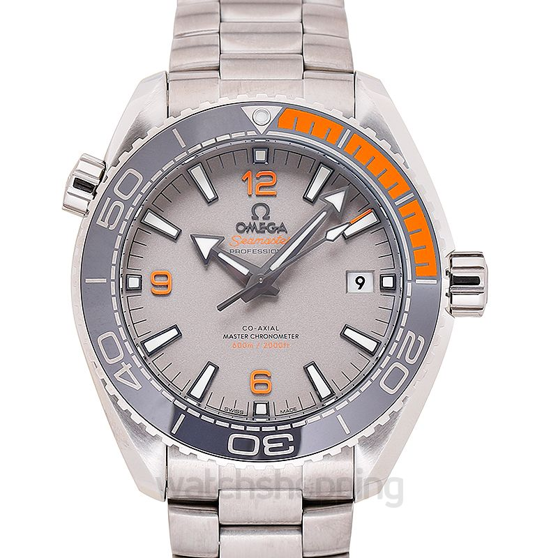 Omega Seamaster Planet Ocean 600M Co‑Axial Master Chronometer 43.5 mm Automatic Grey Dial Titanium Men's Watch