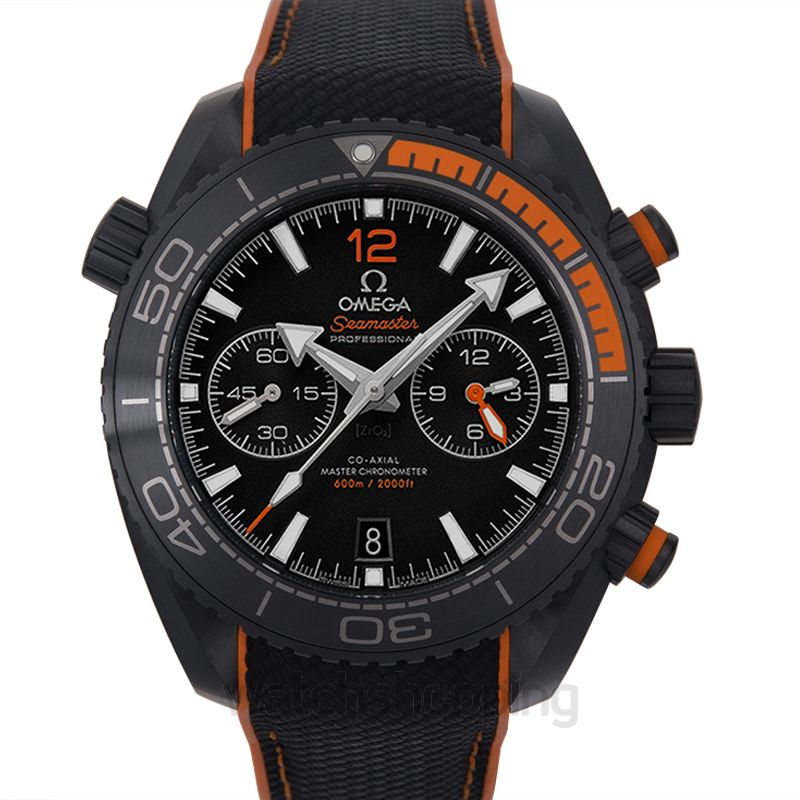 Omega Seamaster Planet Ocean 600M Co‑Axial Master Chronometer Chronograph 45.5 mm Automatic Black Dial Ceramic Men's Watch