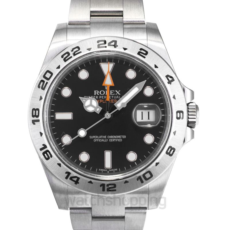 Rolex Explorer II Black Dial Stainless Steel Oyster Bracelet Automatic  Men\u0027s Watch 216570BKSO