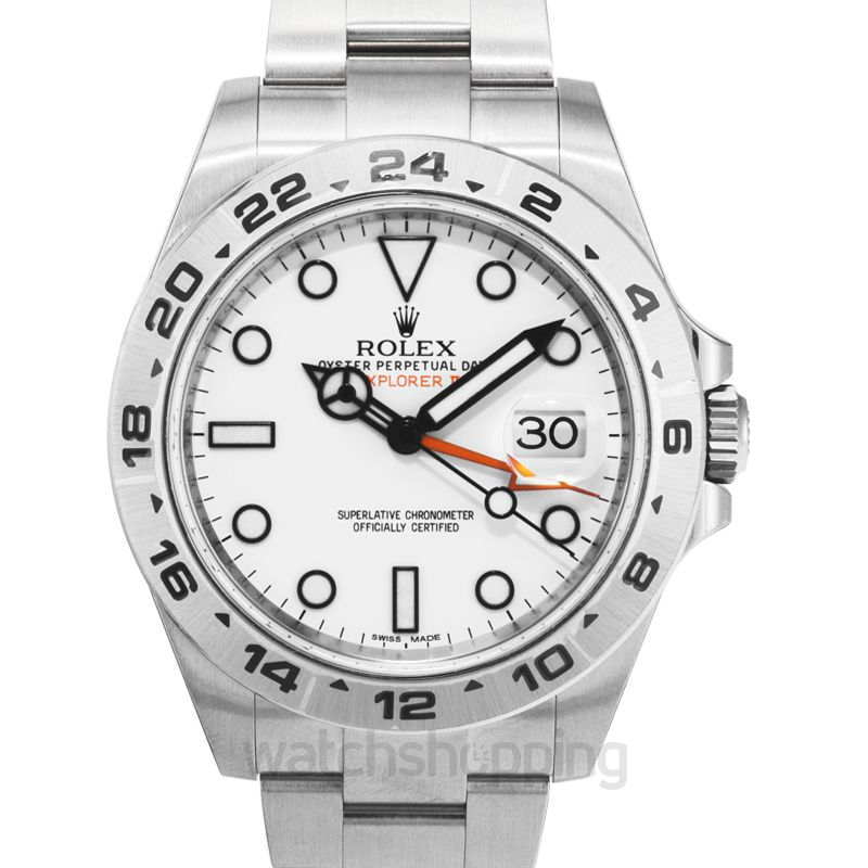 Rolex Rolex Explorer II White Dial Stainless Steel Oyster Bracelet Automatic Men's Watch 216570WSO