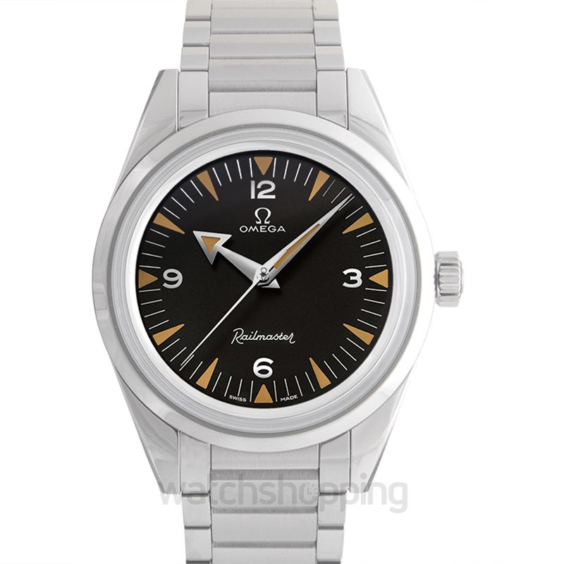 Omega Seamaster Railmaster Co‑Axial Master Chronometer 38mm Automatic Black Dial Steel Men's Watch