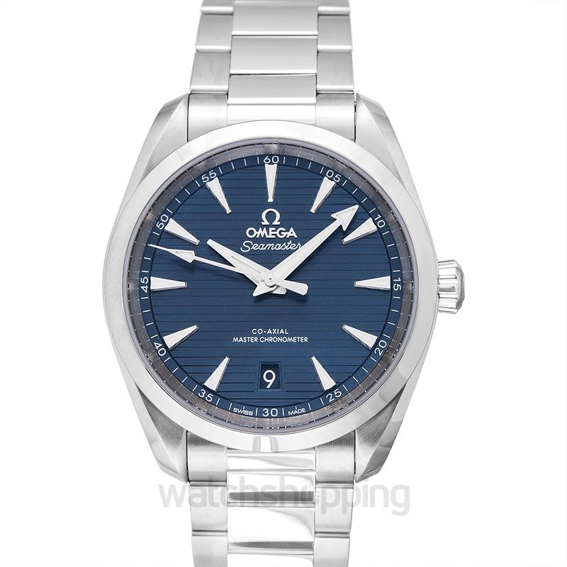 Omega Seamaster Aqua Terra 150M Co‑Axial Master Chronometer 38 mm Automatic Blue Dial Steel Men's Watch