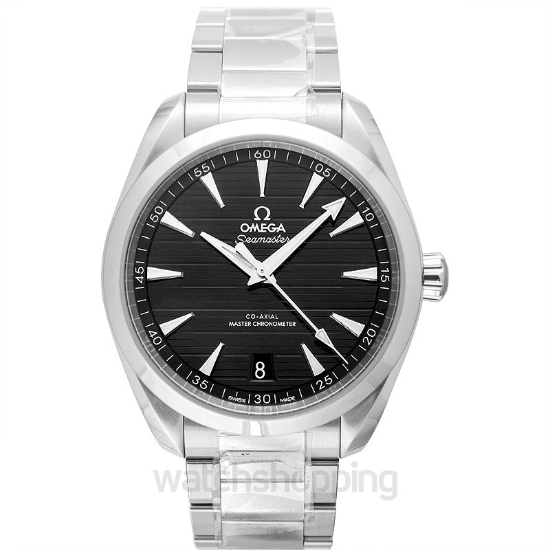 Omega Seamaster Aqua Terra 150M Co‑Axial Master Chronometer 41 mm Automatic Black Dial Steel Men's Watch