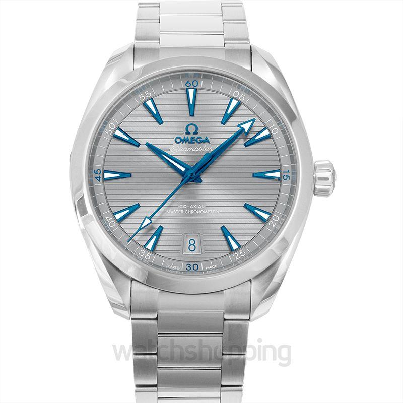 Omega Seamaster Aqua Terra 150M Co‑Axial Master Chronometer 41mm Automatic Grey Dial Steel Men's Watch