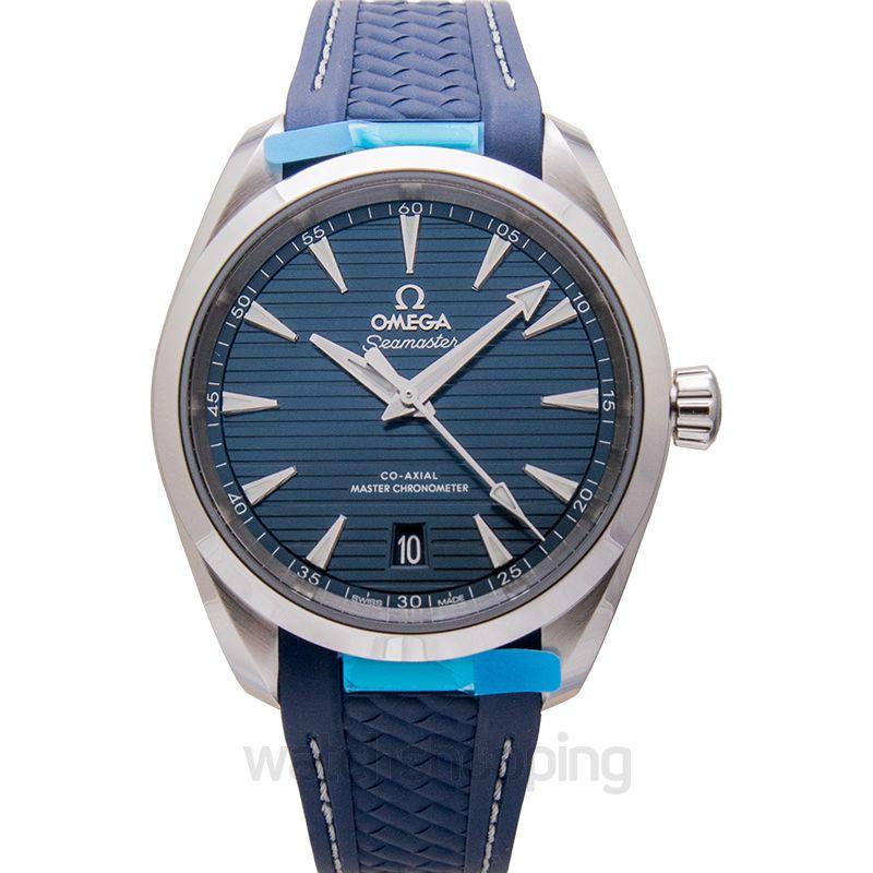 Omega Seamaster Aqua Terra 150M Co‑Axial Master Chronometer 38mm Automatic Blue Dial Steel Men's Watch
