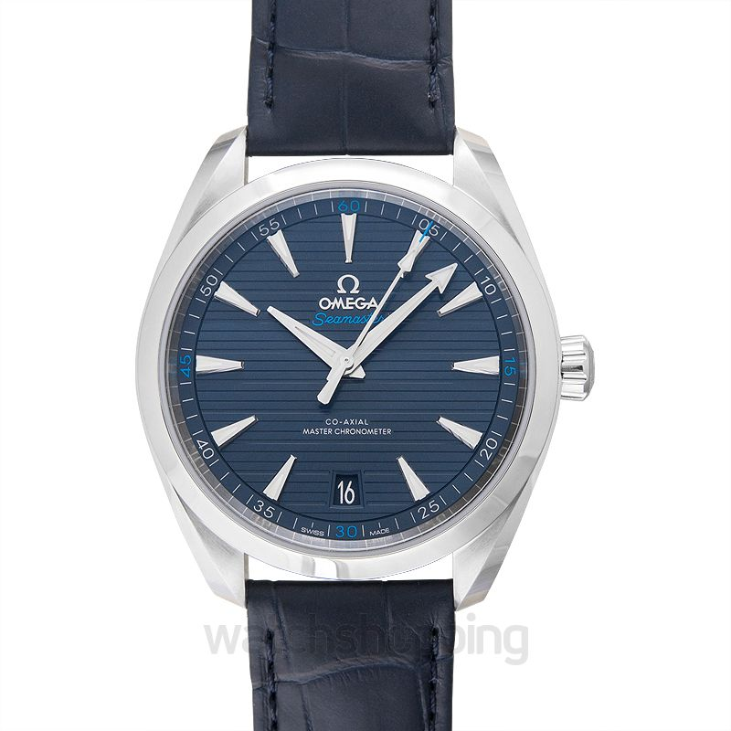 Omega Seamaster Aqua Terra 150M Co‑Axial Master Chronometer 41 mm Automatic Blue Dial Steel Men's Watch