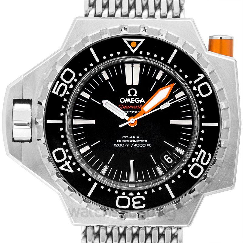 Omega Seamaster Ploprof 1200M Co‑Axial 55x48mm Black Dial Steel Men's Watch