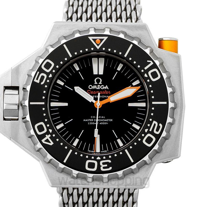 Omega Seamaster Ploprof 1200M Co-Axial Master Chronometer 55x48mm Automatic Black Dial Titanium Men's Watch