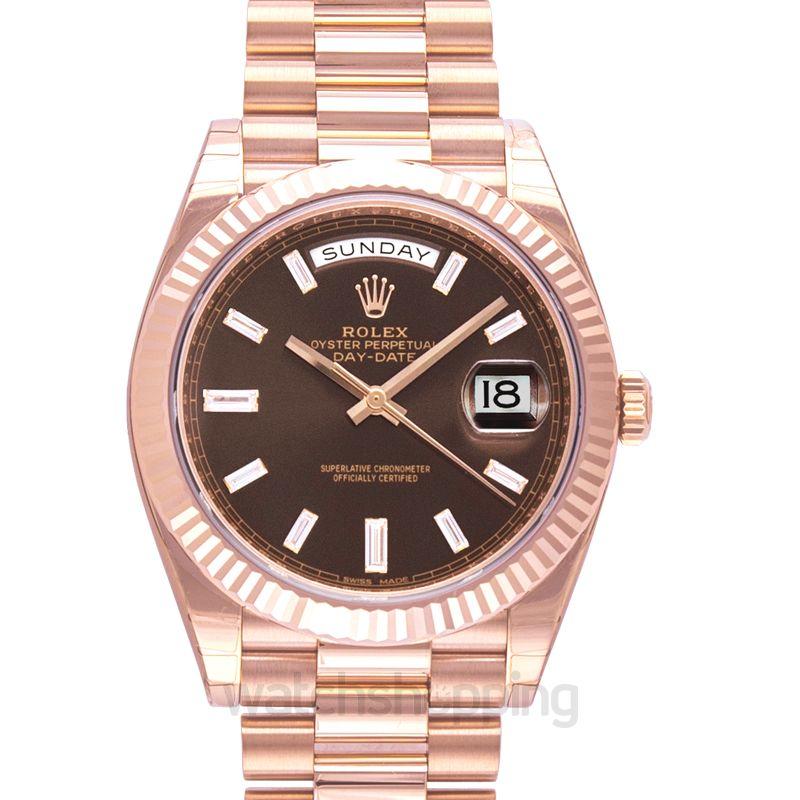 Rolex Rolex Day-Date 40 Chocolate Dial 18K Everose Gold President Automatic Men's Watch 228235CHDP