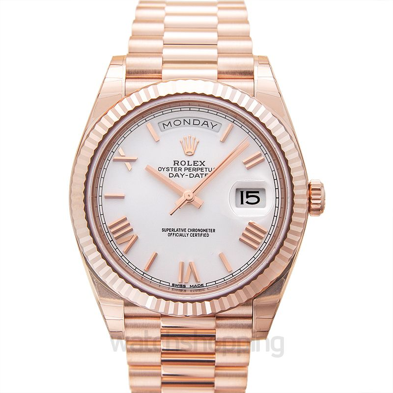 Rolex Day-Date 40 Everose / White Roman
