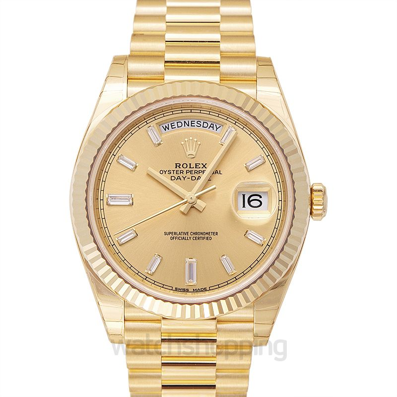 Rolex Day-Date 40 Yellow Gold / Champagne Diamond