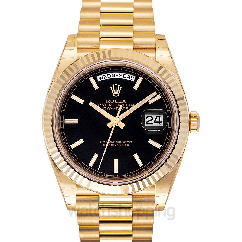 Rolex Day-Date 40 Yellow Gold / Black