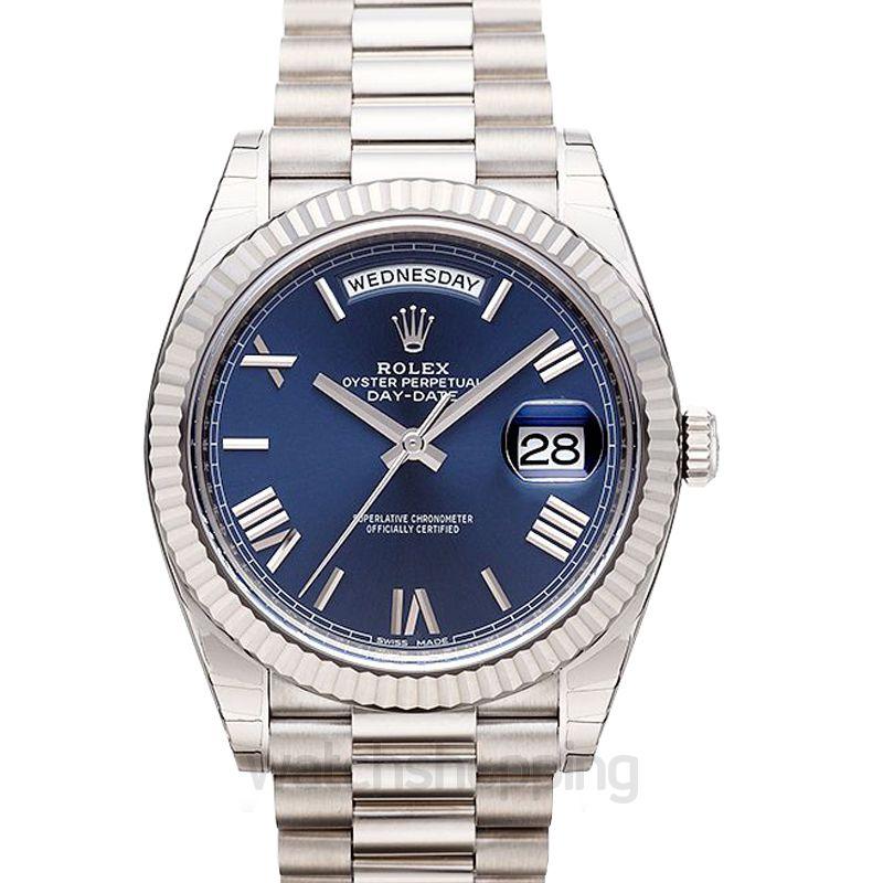 Rolex Rolex Day-Date 40 Blue Dial 18K White Gold President Automatic Men's Watch 228239BLRP