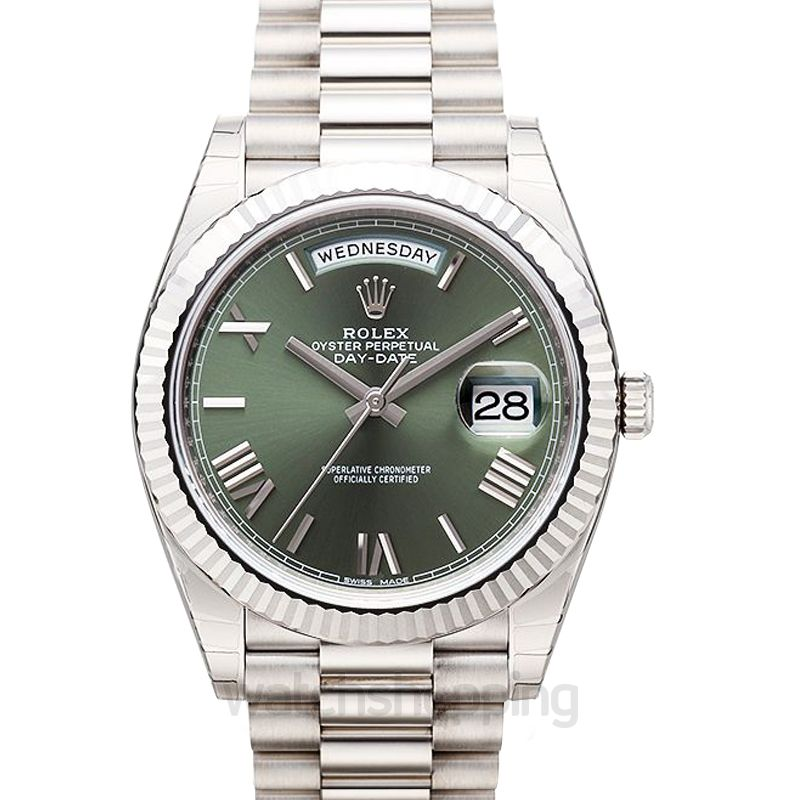 Rolex Day Date Automatic Green Dial Men's Watch