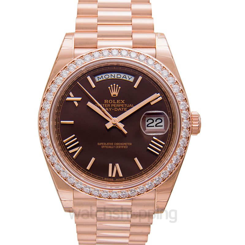 Rolex Day-Date 40 Chocolate 18k Pink Gold 40mm