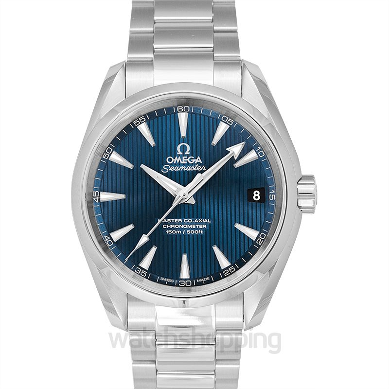 Omega Seamaster Aqua Terra 150M Master Co‑Axial 38.5 mm Automatic Blue Dial Steel Men's Watch
