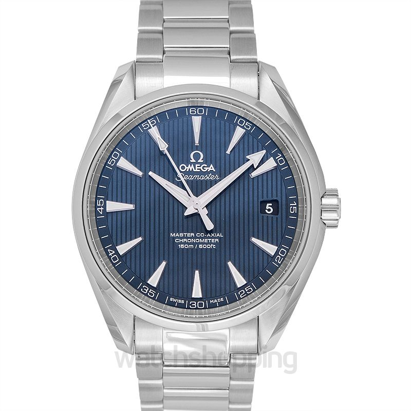 Omega Seamaster Aqua Terra 150M Master Co‑Axial 41.5 mm Automatic Blue Dial Steel Men's Watch