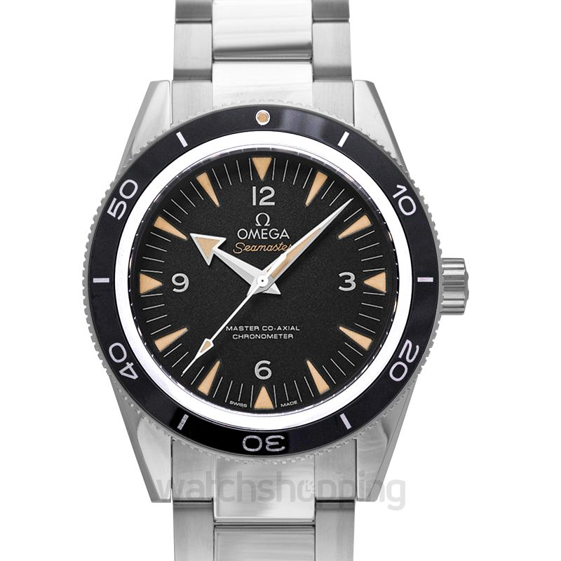 Omega Seamaster 300 Master Co‑Axial 41 mm Automatic Black Dial Steel Men's Watch