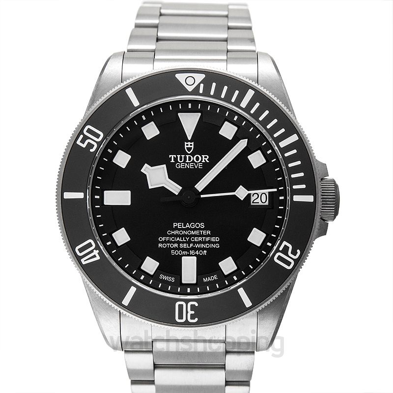 Tudor Pelagos Chronometer Black Dial Titanium Men's Watch