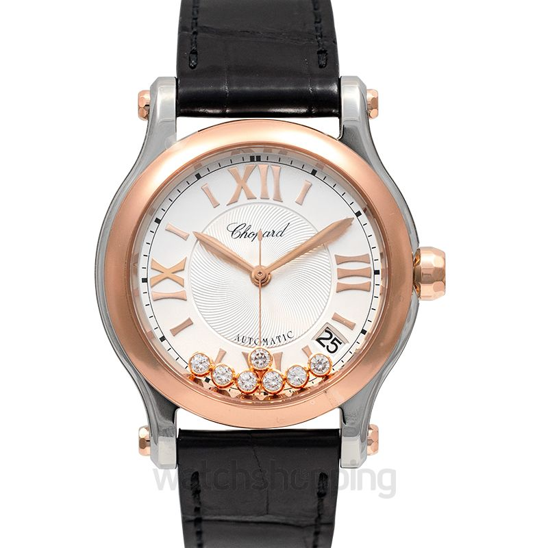 Chopard Happy Sport 36 mm Automatic Silver Dial Diamonds Unisex Watch
