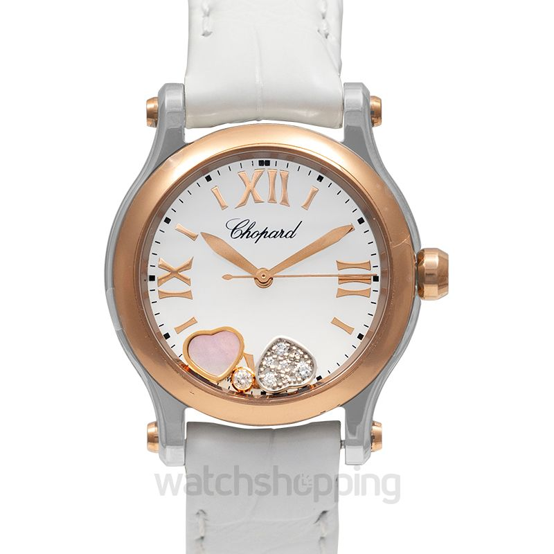Chopard Happy Sport Quartz Mother of pearl Dial Diamonds Unisex Watch