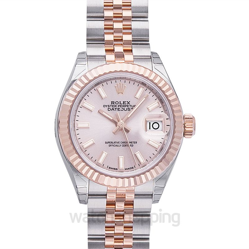 Rolex Lady-Datejust 28 Rolesor Rose Fluted / Jubilee / Sundust