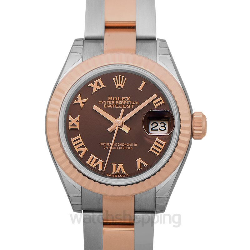 Rolex Lady Datejust Brown Dial Watch