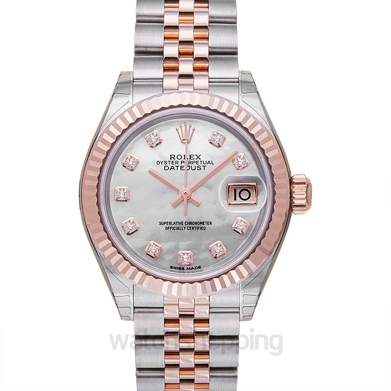 Rolex Lady-Datejust 28 Rolesor Rose Fluted / Jubilee / MOP