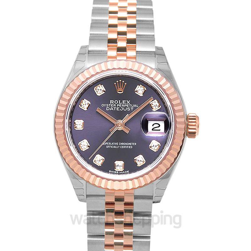 Rolex Lady Datejust Automatic Purple Dial Ladies Watch