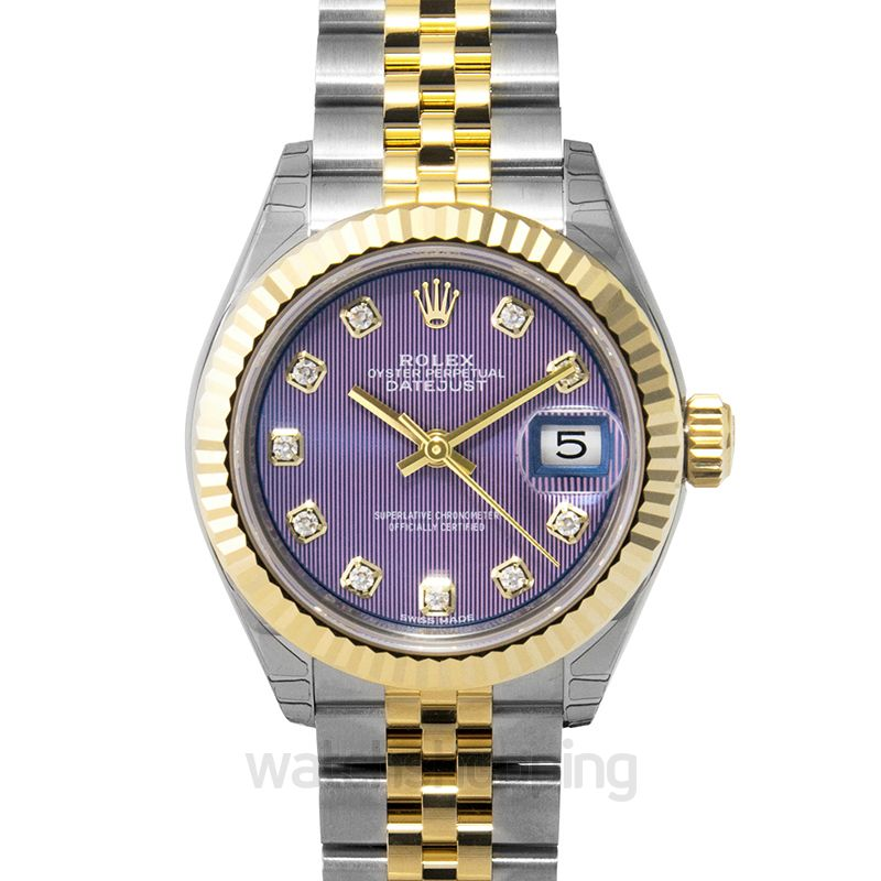Rolex Lady Datejust Lavender Diamond Dial Steel and 18K Yellow Gold Automatic Ladies Watch 279173LVDJ