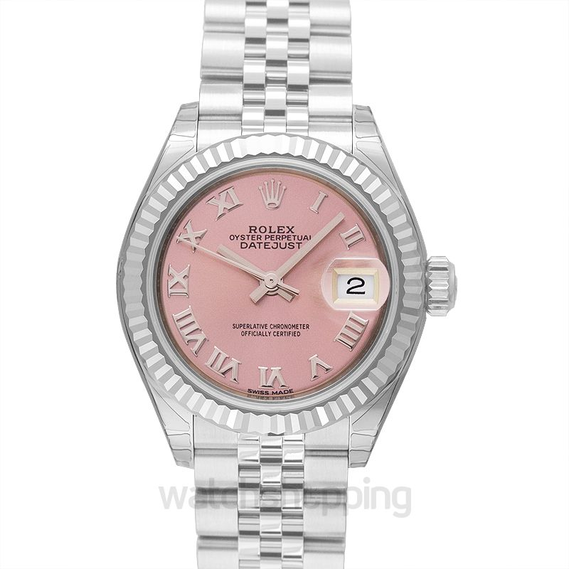Rolex Lady-Datejust 28 Stainless Steel Fluted / Jubilee / Pink Roman