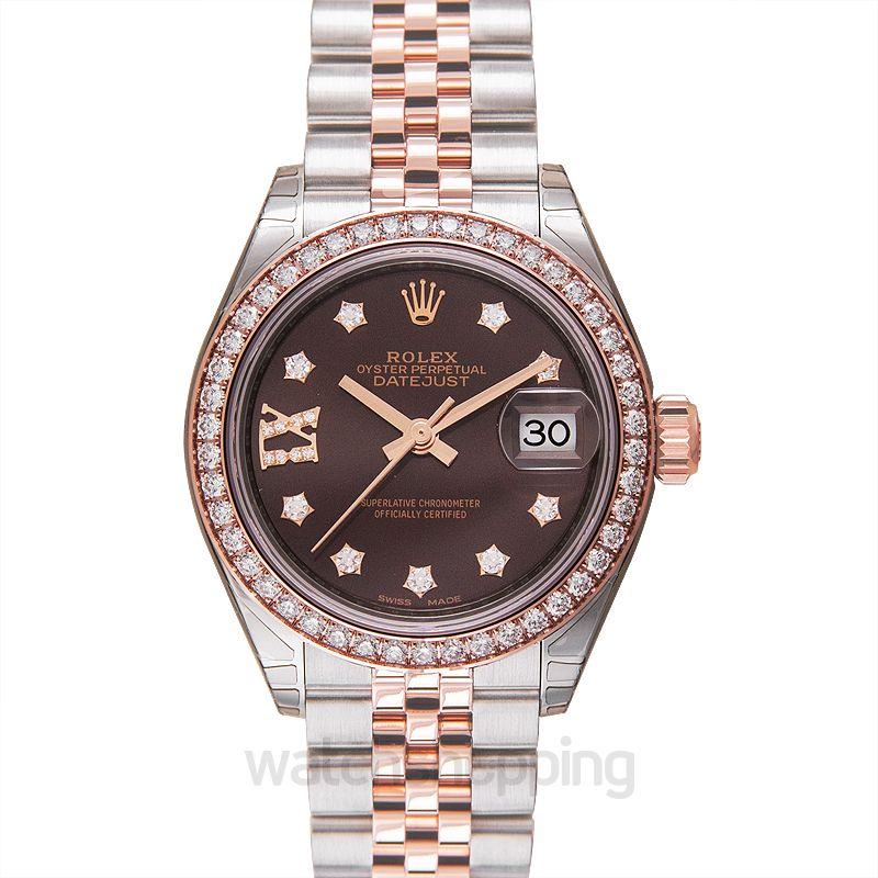 Rolex Lady-Datejust 28 Rolesor Rose Diamond / Jubilee / Chocolate Diamond