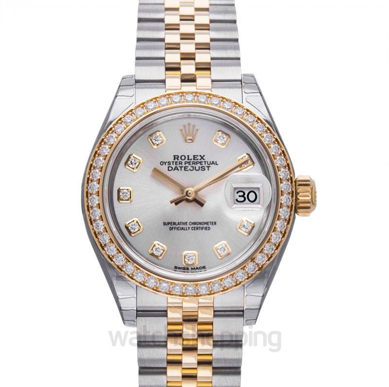 Rolex Lady-Datejust 28 Rolesor Yellow Diamond / Jubilee / Silver Diamond