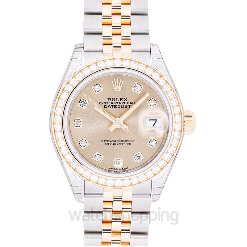 Lady Datejust 28 Rolesor Yellow Diamond Jubilee Champagne Diamond