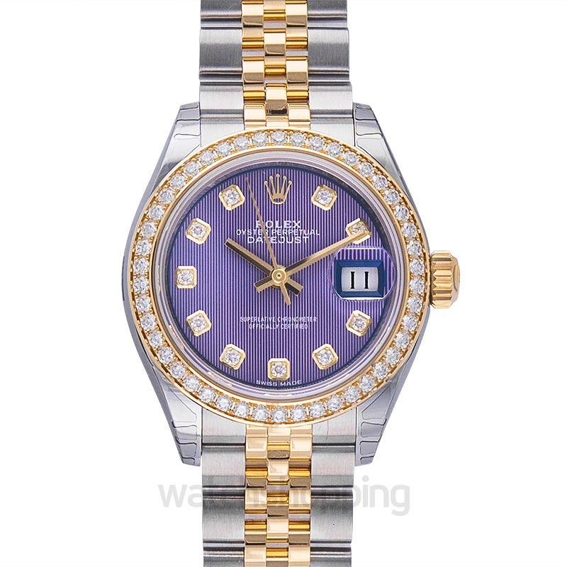 Rolex Lady-Datejust 28 Rolesor Yellow Diamond / Jubilee / Lavender Diamond