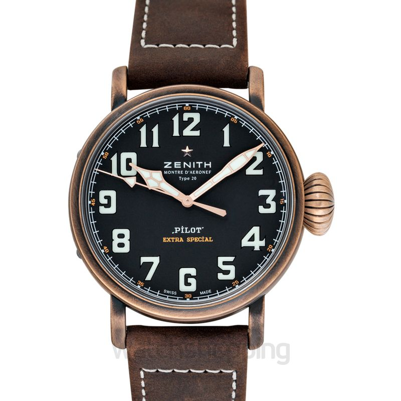Zenith Pilot Type 20 Black Steel/Leather 45mm