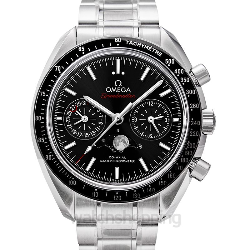 Omega Speedmaster Moonwatch Co‑Axial Master Chronometer Moonphase Chronograph 44.25mm Automatic Black Dial Steel Men's Watch