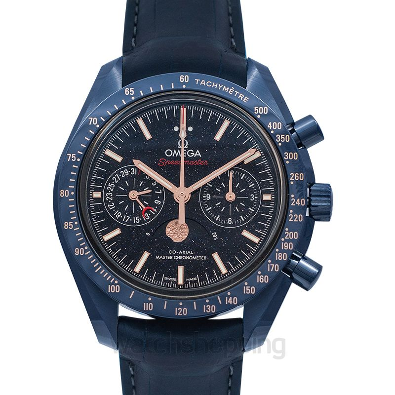 Omega Speedmaster Moonwatch Blue Side of the Moon Co‑Axial Master Chronometer Moonphase Chronograph 44.25mm Automatic Blue Dial Ceramic Men's Watch