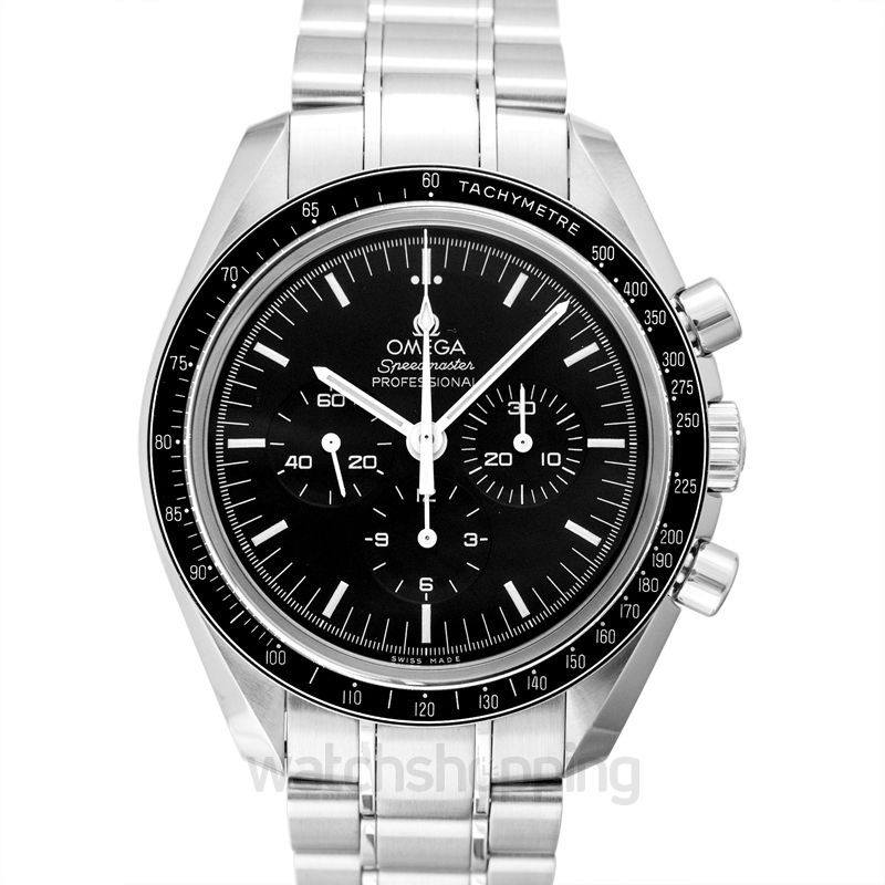 Omega Speedmaster Moonwatch Professional Chronograph 42 mm Manual-winding Black Dial Stainless Steel Men's Watch